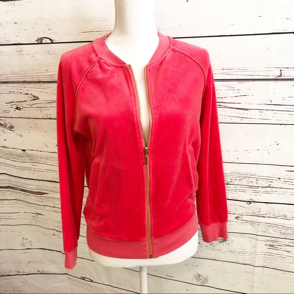 Juicy Couture Jackets & Blazers - $CLEARANCE$ Juicy Couture Velour Zip Up Jacket